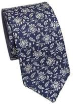 COLLECTION Double Face Flower Silk Tie