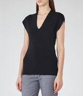 Reiss Nichol Knitted Cap-Sleeve Top