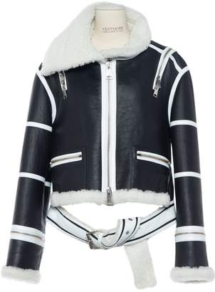 Monse Anthracite Leather Jackets