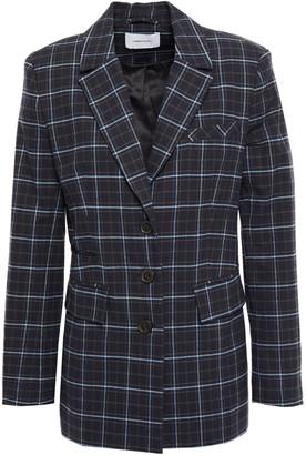 Current/Elliott Checked Cotton-flannel Blazer