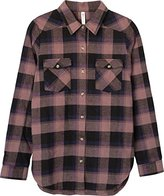 RVCA Junior's Wanted Plaid Flannel Shirt