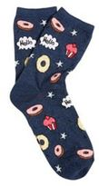F&F Badge Pattern Ankle Socks, Women's