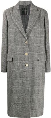 Ermanno Scervino Check Single-Breasted Coat