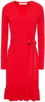 Diane von Furstenberg Kienna Ribbed-knit Wrap Dress