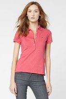 Lacoste Short Sleeve 5 Button Stretch Pique Polo
