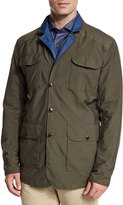 Peter Millar Canton Reversible Field Jacket, Olive