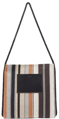 Jil Sander Striped Canvas Tote Bag - Mens - Multi