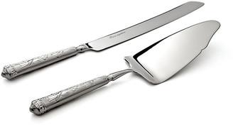 Ricci 2-Pc Audubon Cake Knife & Server silver