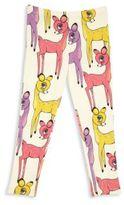 Mini Rodini Little Girl's & Girl's Deer-Print Leggings
