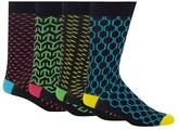 Red Herring Pack Of Four Multi-coloured Geometric Print Socks