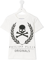 Philipp Plein skull print T-shirt - kids - Cotton - 4 yrs
