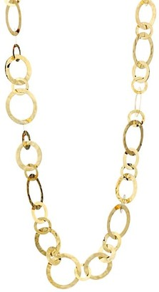 Ippolita Classico Short 18K Yellow Gold Crinkle Medium Link Necklace