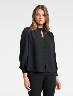 Ever New Zara Button-Through Blouse