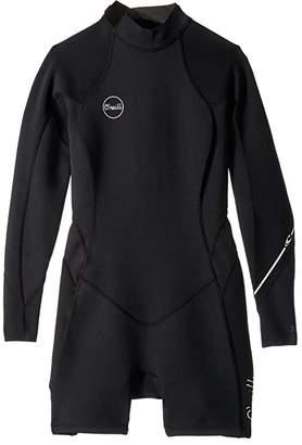 O'Neill Bahia 2/1 Back Zip Long Sleeve Spring Suit (Black/Black/Black) Women's Wetsuits One Piece
