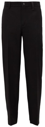 Burberry Zip-pocket Wool Slim-leg Trousers - Black