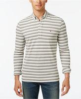 Tommy Hilfiger Men's Vanderbilt Striped Pique Long-Sleeve Polo