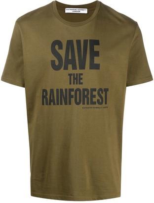 Katharine Hamnett slogan print T-shirt