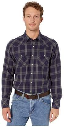 Ariat Fontana Retro Snap Shirt (Peacoat) Men's Long Sleeve Button Up