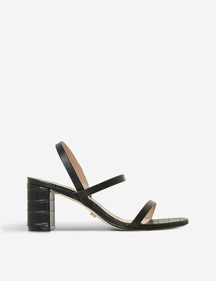 Dune Marta block-heeled leather sandals