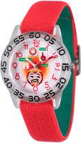 Marvel Emoji Boys Red Strap Watch-Wma000081