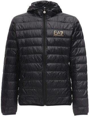 EA7 Emporio Armani Hooded Train Core Light Down Jacket