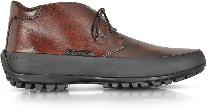 Pakerson Tan Leather Ankle Boot w/Rubber Sole