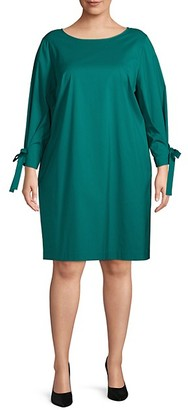 Lafayette 148 New York Plus Paige Tie-Sleeve Dress