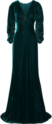 Stella McCartney Ruched Velvet Gown