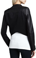 Neiman Marcus Cusp by Layered Ponte/Leather Jacket