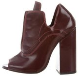 Ellery Peep-Toe Leather Booties