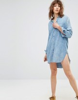 Maison Scotch Roosters Denim Shirt Dress