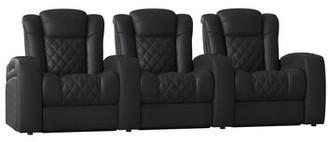 Red Barrel Studioâ® Home Theater Row Seating (Row of 3) Red Barrel StudioA Body Fabric: Luxe Regatta