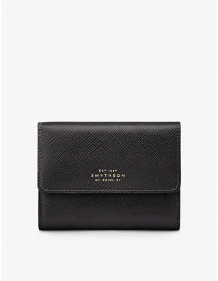 Smythson Panama crossgrain leather coin purse