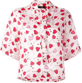 Diesel heart print blouse - women - Viscose - XS