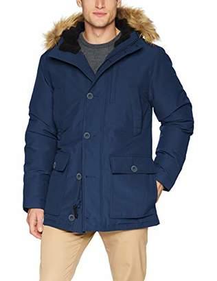 Goodthreads Men's Down D Hooded Parka Coat, Blue (), XX-Large