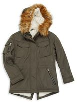 S13/Nyc Girl's Faux Fur-Trimmed Hooded Parka