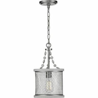 17 Stories Millsaps 1 - Light Lantern Drum Pendant Finish: Silver