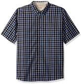Wrangler Men's Authentics Short Sleeve Classic Plaid Shirt