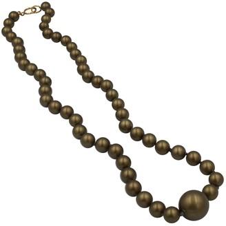 Chanel Khaki Glass Necklaces