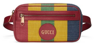 Gucci Baiadera stripe canvas belt bag