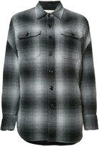 R 13 dropped shoulder plaid shirt - women - Silk/Cotton/Viscose - XS