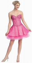 May Queen - Fancy Embroidered Sweetheart Taffeta A-line Short Dress MQ578
