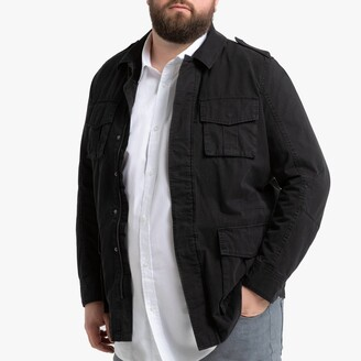 Cotton Utility Jacket with Pockets