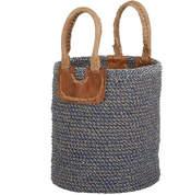 Nkuku Indra Coil Basket - Blue - Small