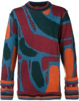 Issey Miyake abstract pattern sweater - men - Acrylic/Nylon/Mohair/Wool - 3