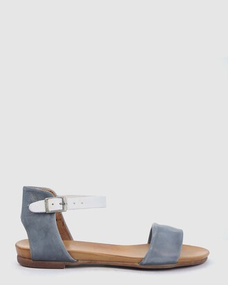 EOS Women's Grey Flat Sandals - Larna - Size One Size, 37 at The Iconic
