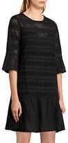 AllSaints Dakota Ruffle Dress, Black