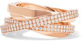 Repossi Technical Berbère 18-karat Rose Gold Diamond Ring - 55