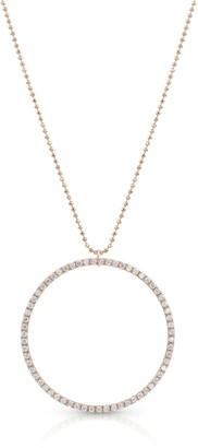 Dominique Cohen 18k Rose Gold Diamond Hoop Pendant Necklace (Large)