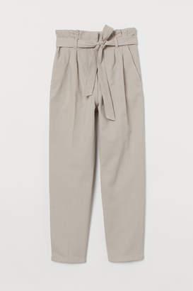 H&M Paper-bag Pants - Brown